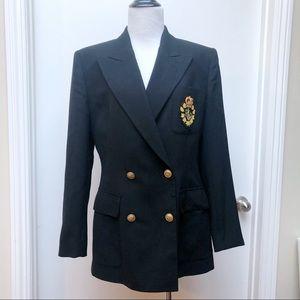Vintage Ralph Lauren Crest Blazer Size 8